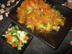asian spaghetti squash with shrimp