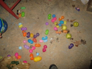 opened eggs at Easter Glow Party