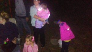 Kids playing at Easter Glow Party