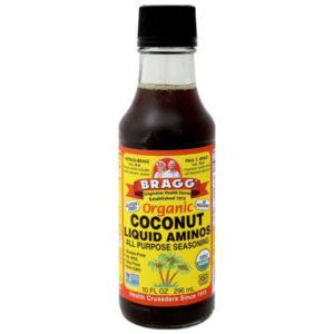 bottle of coconut aminos