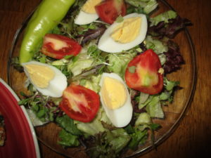 store bought salad dressing salad