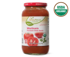 Approved tomato marinara sauce