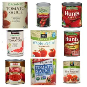 9 cans of approved tomato products