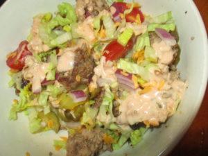 Meal plan a big mac salad