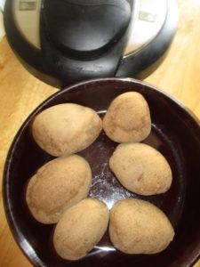 Potatoes in Instant Pot.