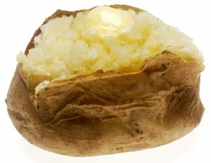 a whole baked potato for eating all your containers