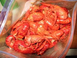 Crawfish for seafood boil