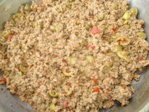 meat mixture for empanada bowl