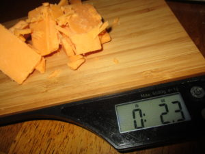 weighing cheese container filling hack
