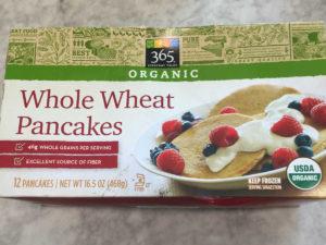 box of whole wheat pancakes