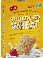 Box of shredded wheat for finding approved cereal