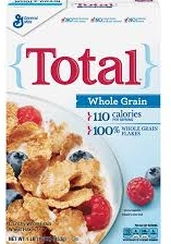 Total whole grain cereal for finding approved cereals list