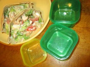 Chicken salad stuffed pita pockets