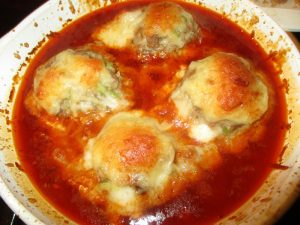 Cooked Giant Meat za balls.