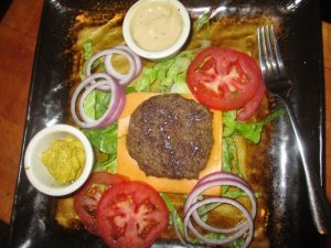 Fully dressed burger plate