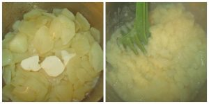 mashed potatoes for traditional Irish colcannon