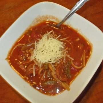 Pizza noodle soup