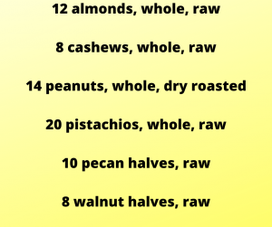 counting nuts on the 21 day fix