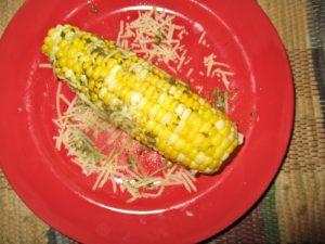 pesto parm corn