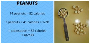counting nuts 21 day fix peanuts