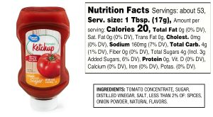ketchup for condiments on the 21 Day Fix