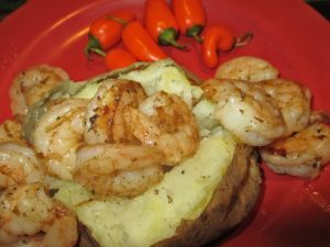 shrimp stuffed baked potato and the 21 Day Fix