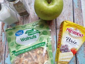 ingredients for apple walnut brie chicken