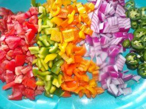 fresh veggies layer
