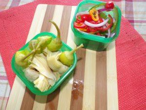 artichoke hearts and veggies