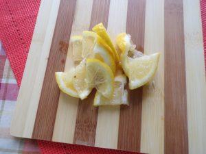 lemon slices for Mediterranean antipasto platter