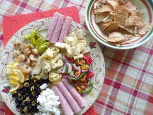 finished Mediterranean Antipasto Platter