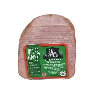 Red container foods list ham slices