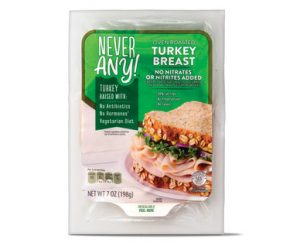 never any deli turkey red container food
