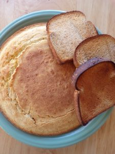 cooked cornbread and toast