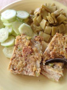 plated cornbread dressing