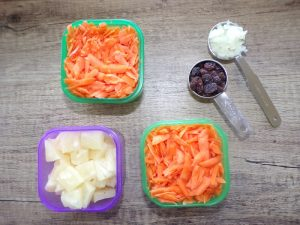 ingredients for Classic Carrot Salad