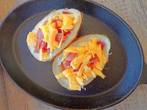 Healthy baked potato skins