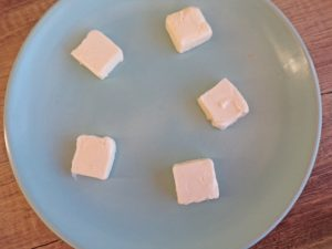 5 tablespoons of butter