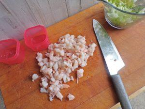 chopped shrimp for salad