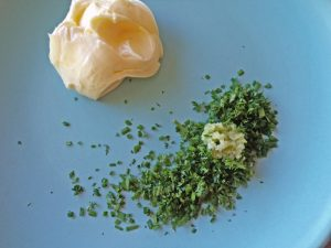 butter with garlic and herbs