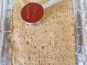 flatbread for triple meat pizza