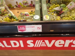 What to buy at Aldi. 75 cent grapes
