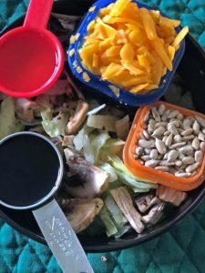 Salad ingredients for highest protein foods