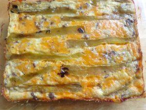 cooked chili relleno casserole