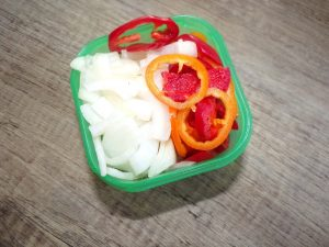 onions and peppers