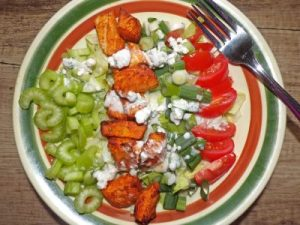 Buffalo Chicken Chopped Salad for Dressings/Dips/Sauces Round-up
